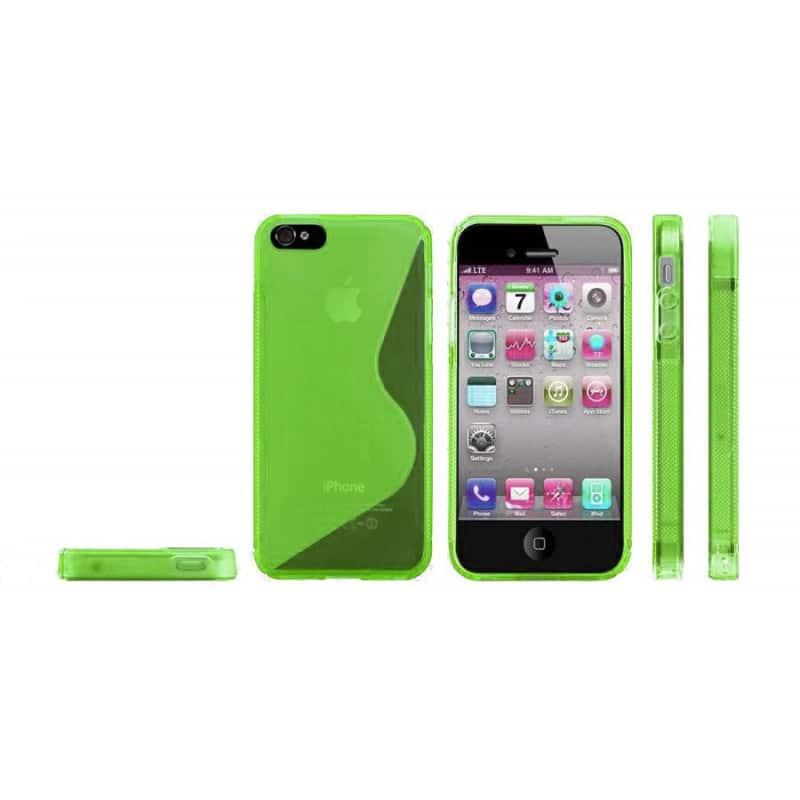 coque s line 2 vert pour iphone 5 5s et se. Black Bedroom Furniture Sets. Home Design Ideas