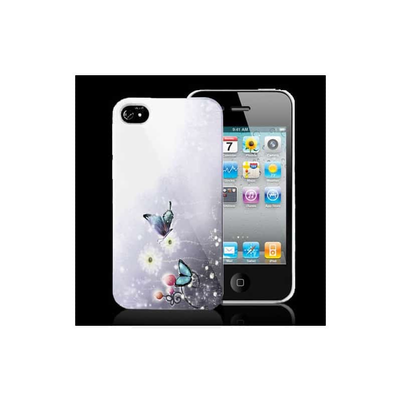 coque papillon 2 pour iphone 4 et 4s. Black Bedroom Furniture Sets. Home Design Ideas