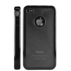 """Coque rigide """" hole """" de couleur noire pour Iphone 4"""