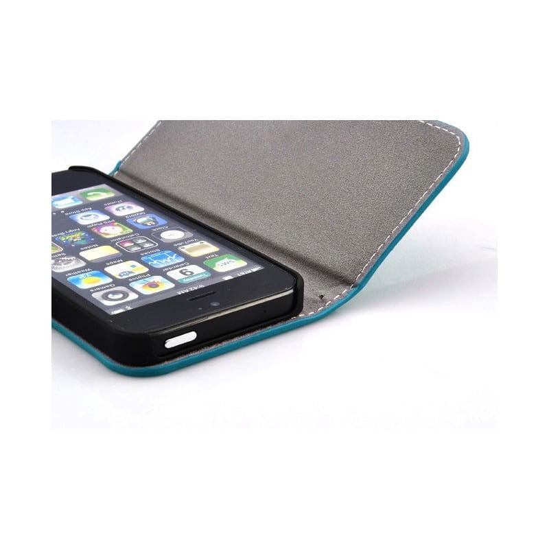 etui rabattable love bleu pour iphone 5 et 5s. Black Bedroom Furniture Sets. Home Design Ideas