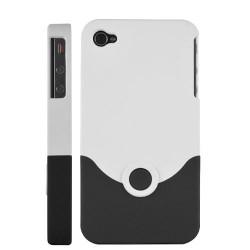 Coque en deux parties de couleurs noire et blanche pour Iphone 4 et 4S