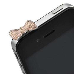 Cache Jack papillon rose pour telephones et Mp3