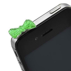 Cache Jack papillon vert pour telephones et Mp3