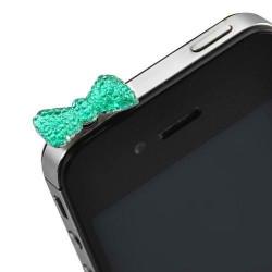 Cache Jack papillon bleu pour telephones et Mp3