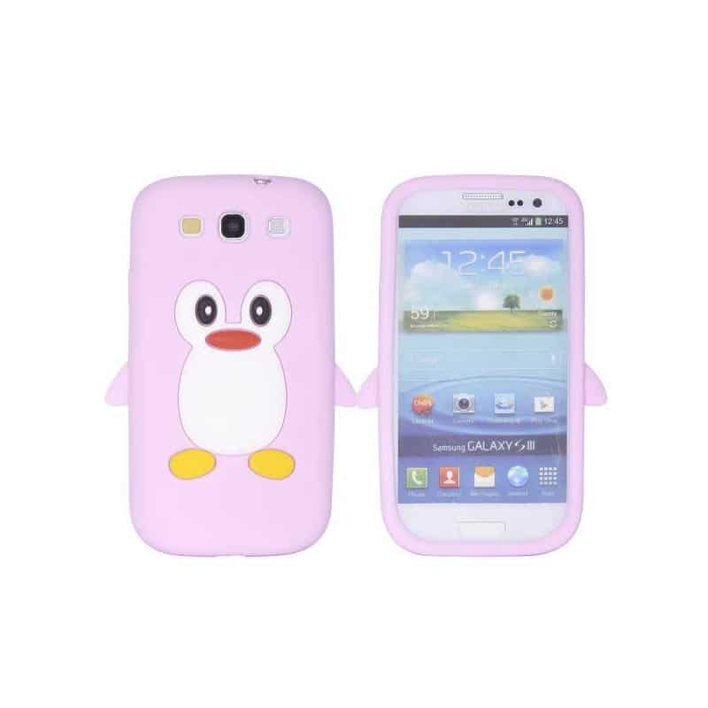 coque pingouin rose pour samsung galaxy s3. Black Bedroom Furniture Sets. Home Design Ideas