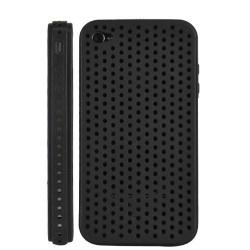 Coque ventilée de couleur noire pour Iphone 4