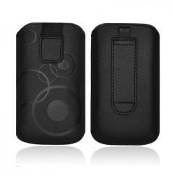 Pochette CHIC noire CIRCLE  universelle pour telephones et lecteurs mp3