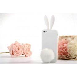Coque LAPIN blanche pour iPhone 5 5S et SE