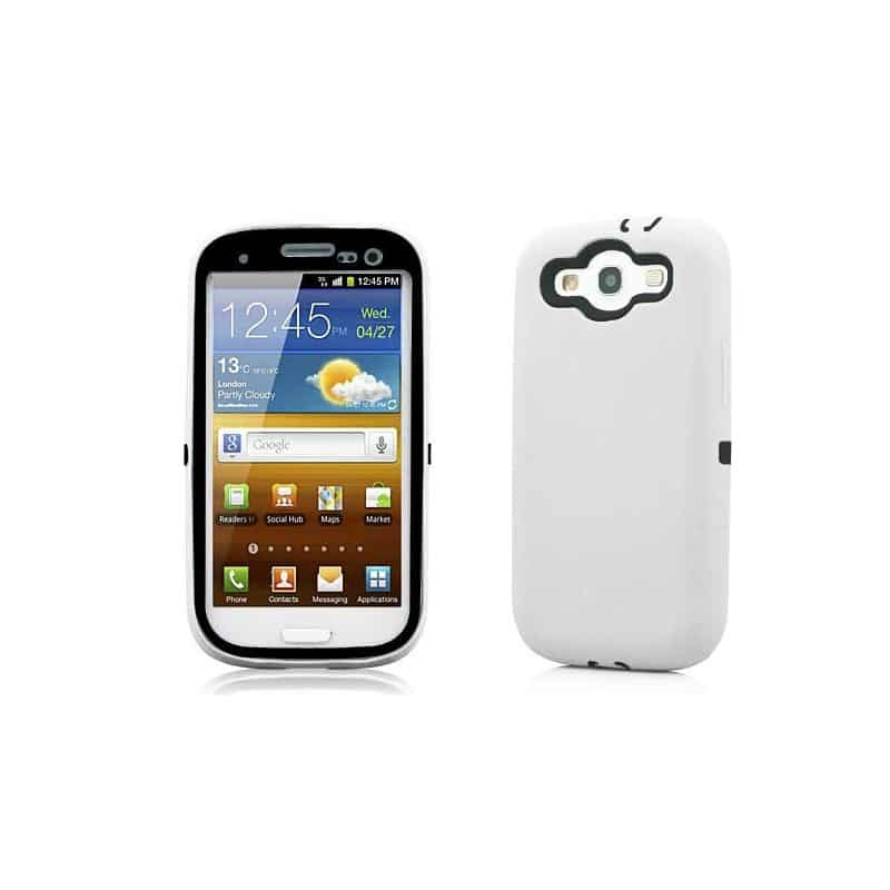 coque protect blanche pour samsung galaxy s3. Black Bedroom Furniture Sets. Home Design Ideas