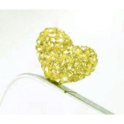 Cache Jack coeur jaune pour telephones et Mp3