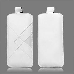Pochette blanche LOSANGE universelle pour telephones et lecteurs mp3