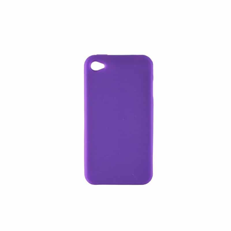 coque silicone mauve pour iphone 4 et 4s. Black Bedroom Furniture Sets. Home Design Ideas