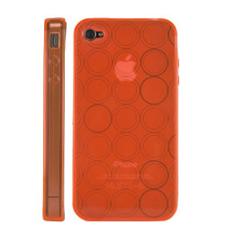 "Coque "" circle "" de couleur orange pour Iphone 4"