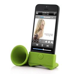 Support amplificateur vert pour Iphone 4 et 5