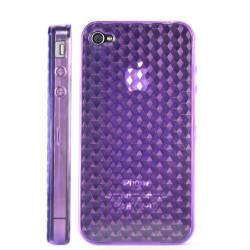 Coque nid d'abeilles de couleur violette pour Iphone 4