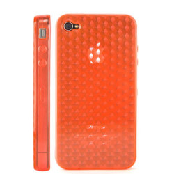 Coque nid d'abeilles de couleur orange pour Iphone 4