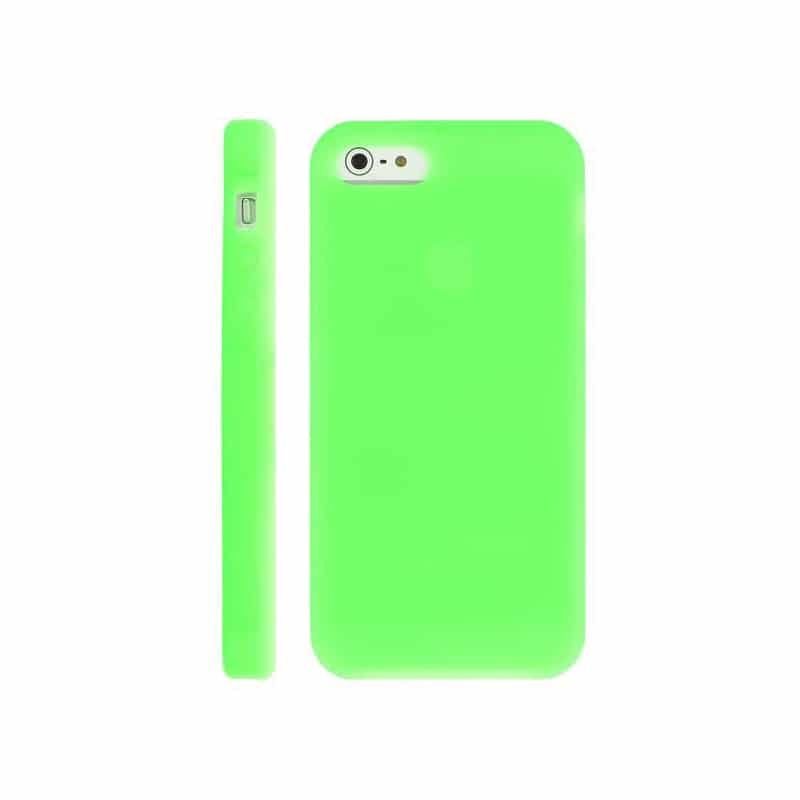 coque silicone verte pour iphone 5 5s et se. Black Bedroom Furniture Sets. Home Design Ideas
