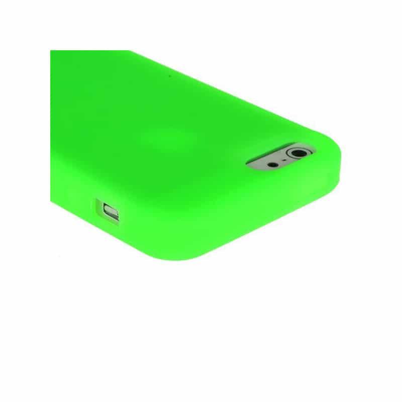 coque silicone verte pour iphone 5 5s et se. Black Bedroom Furniture Sets. Home Design Ideas