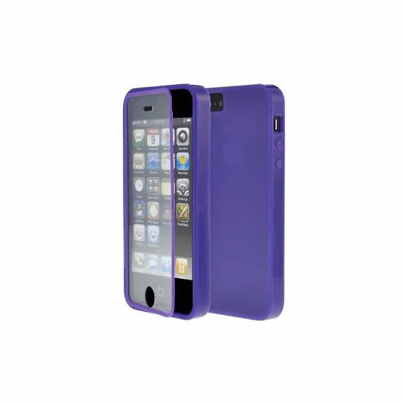 coque integrale mauve protegeant la facade de votre iphone 5 5s et se. Black Bedroom Furniture Sets. Home Design Ideas