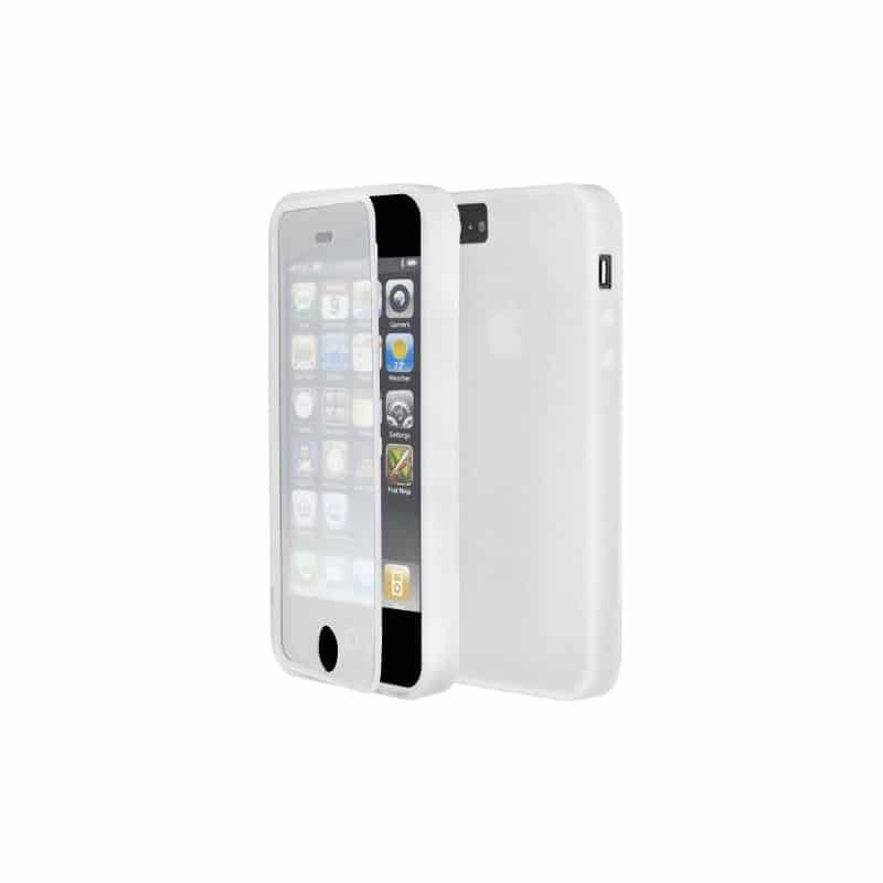 coque integrale blanche protegeant la facade de votre iphone 5 5s et se. Black Bedroom Furniture Sets. Home Design Ideas