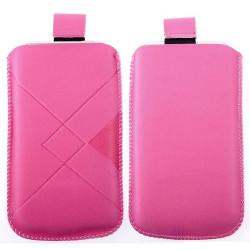 Pochette rose DAMIER universelle pour telephones et lecteurs mp3