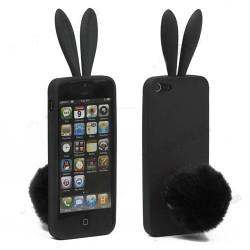 Coque LAPIN noire pour iPhone 5 5S et SE