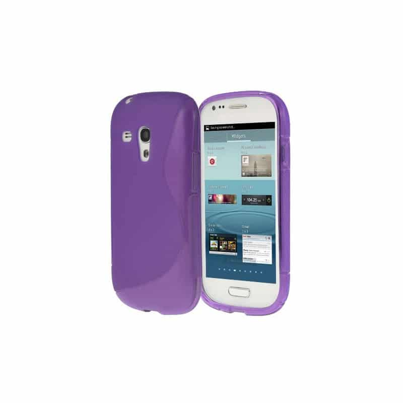 coque s line mauve pour samsung galaxy s3 mini gt i8190. Black Bedroom Furniture Sets. Home Design Ideas