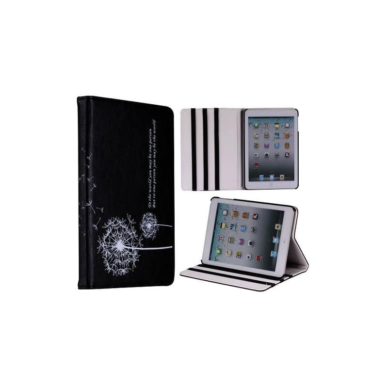 etui rabattable dandelion noir pour ipad mini. Black Bedroom Furniture Sets. Home Design Ideas