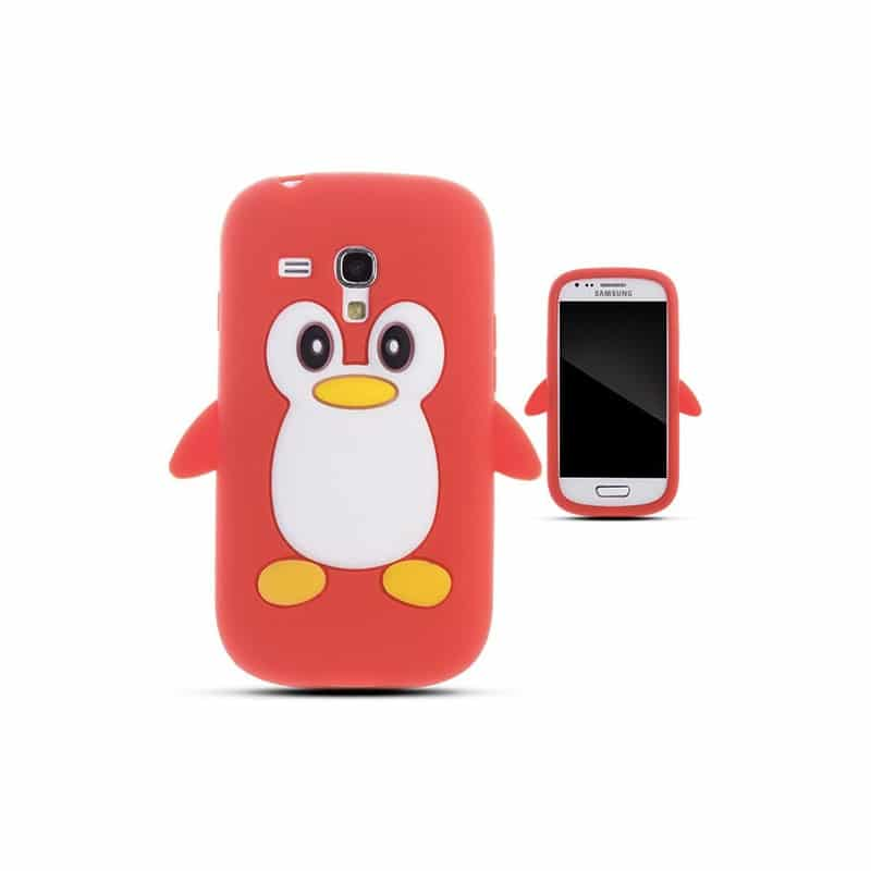 coque pingouin rouge pour samsung galaxy s3 mini gt i8190. Black Bedroom Furniture Sets. Home Design Ideas