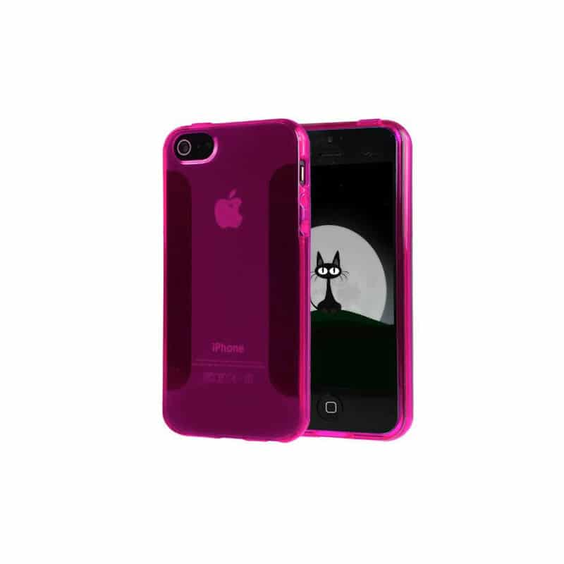 coque simple design rose pour iphone 5 5s et se. Black Bedroom Furniture Sets. Home Design Ideas