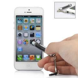 MINI Stylet DIAMOND noir pour telephones et MP3 tactiles .