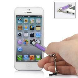 MINI Stylet DIAMOND mauve pour telephones et MP3 tactiles .
