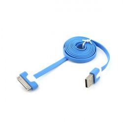 Câble USB LUXE bleu et blanc pour Iphone, Ipad et Ipod .