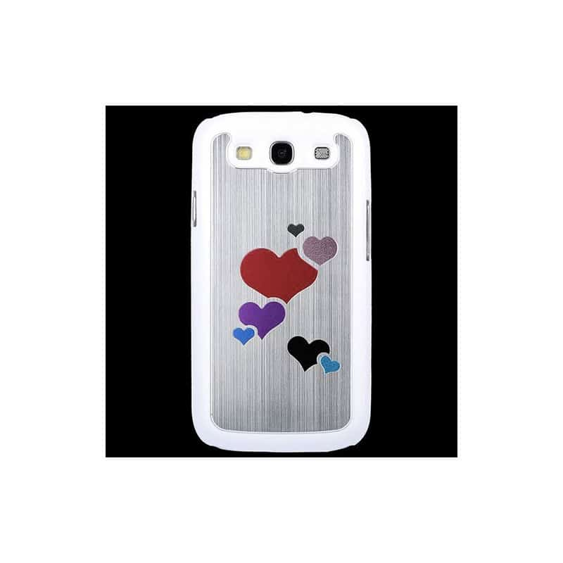 coque alu coeur pour samsung galaxy s3 i9300. Black Bedroom Furniture Sets. Home Design Ideas