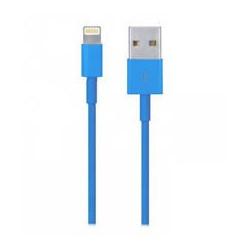 Câble USB LIGHTNING bleu pour Iphone 5, 5S, 5C, 6, 6+, Ipad 4 Ipod touch 5 et nano 7.