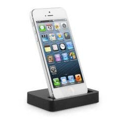 Dock Lightning noir pour Apple iPhone 5 , 5C, 5S 6, 6+, et Ipod touch 5 et 6