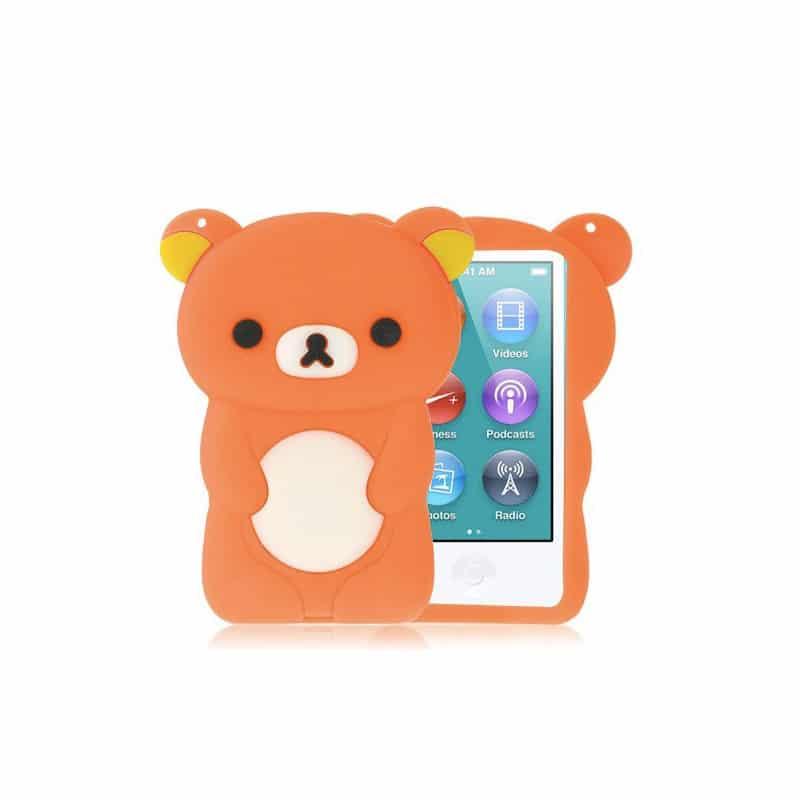 Coque ourson orange pour ipod nano 7 for Housse ipod nano 7