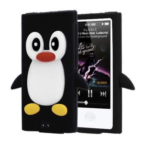 Coque pingouin noire pour ipod nano 7 for Housse ipod nano 7