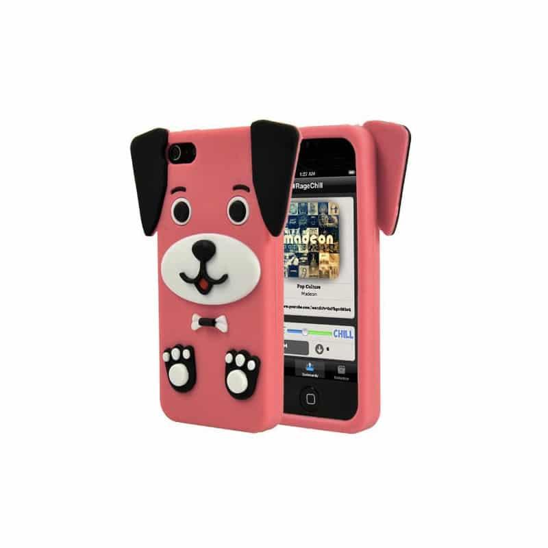 coque chien 3d rose pour iphone 5 5s et se. Black Bedroom Furniture Sets. Home Design Ideas