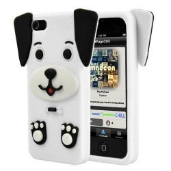 Coque chien 3d blanche pour iphone 5 for Cuisine 3d pour iphone