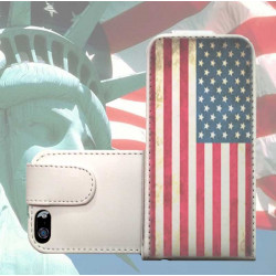 Etui cuir USA 2 pour iPhone 5
