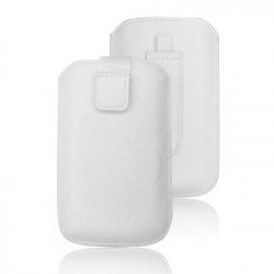 Pochette CHIC blanche CIRCLE universelle pour telephones et lecteurs mp3