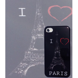 Coque I LOVE PARIS pour Iphone 4 et 4S