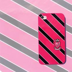 Coque rose et noire CREMIEUX pour Iphone 4 et 4S