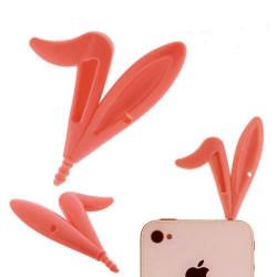 Jack oreilles de lapin rouges pour telephones