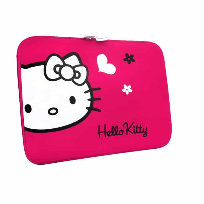 housse universelle originale hello kitty pour tablettes et notebooks jusqu 39 a 15 5 pouces. Black Bedroom Furniture Sets. Home Design Ideas