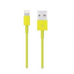 Câble USB LIGHTNING jaune pour Iphone 5, Ipad 4 Ipod touch 5 et nano 7.