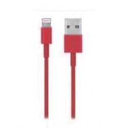 Câble USB LIGHTNING rouge pour Iphone 5, 5S et 5C, 6, 6+, Ipad 4 Ipod touch 5 et nano 7.