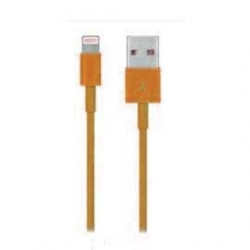 Câble USB LIGHTNING orange pour Iphone 5, Ipad 4 Ipod touch 5 et nano 7.