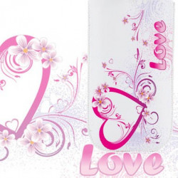 Pochette universelle LOVE pour telephones et lecteurs mp3